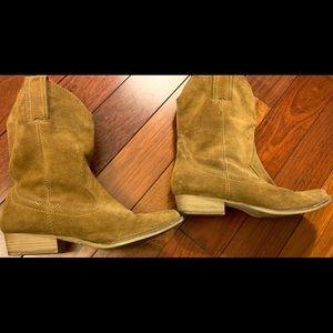Target suede cowboy boots